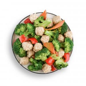 Pileće kuglice sa povrćem